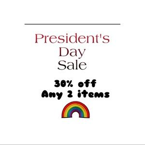 President's day sale !!!!! 30% off any 2 items